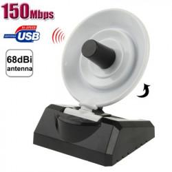 150Mbps USB Wlan adapter m. antenne til forstærket signal