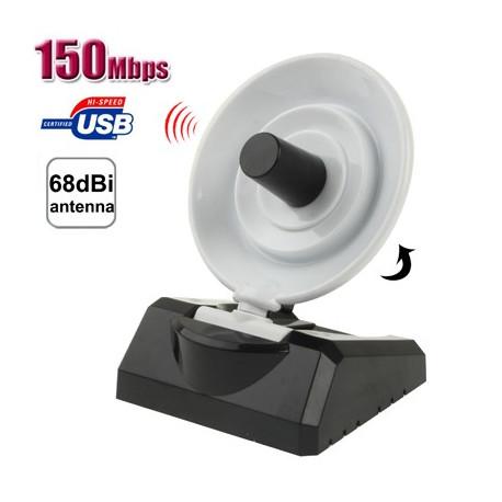 Image of   150Mbps USB Wlan adapter m. antenne til forstærket signal
