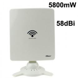 Trådløs 802.11N 58dBi Netværksadapter Antenne - hvid