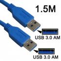 USB 3.0 AM til AM kabel 1,5m