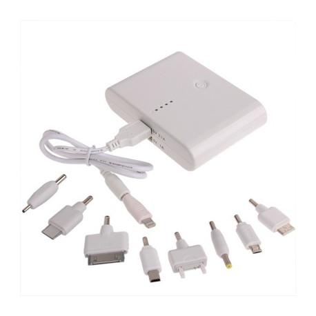 Image of   12000mAh dual-USB smarte mobil strøm bank, ekstern batteri med ni former stik til iPhone 4/5 & 4S og andre mobil telefoner