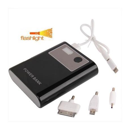 Image of   13000mAh smarte mobil strøm bank, ekstern batteri med lyst lommelygte