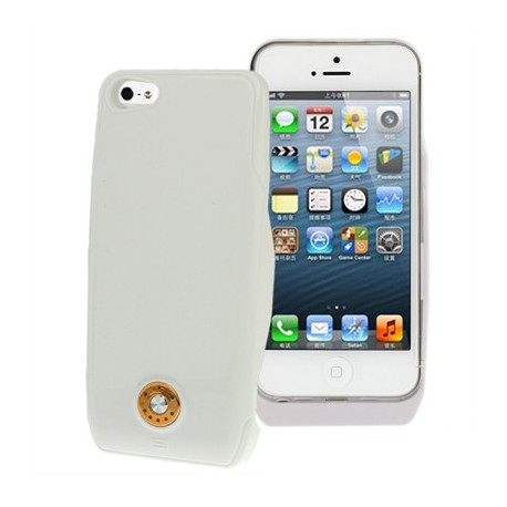 Image of   3000mAh ekstern batteri strøm pakke til iPhone 5 & 5S (hvid)