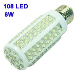 LED pærer med 108 små LED's 6 W Fatning: E27