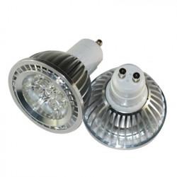Høj kvalitets aluminium LED spot på 4W varm hvidt lys GU10