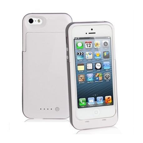 Image of   2000mAh fint matte overflade, aftagelig strøm bank, ekstern batteri til iPhone 5 (hvid)