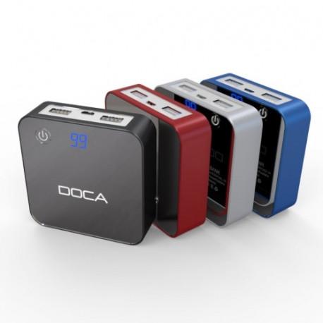 Doca 8400mah mobil strøm bank for iphone / samsung og andre mobiltelefoner, d525 (sølv) fra N/A fra olsens it aps