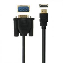 HDMI 1.3 Kabel: VGA til HDMI kabel, Længde: 3m