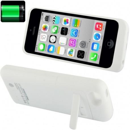 Image of   2200mAh udvidet batteri/strøm bank med Holder til iPhone 5C (hvid)