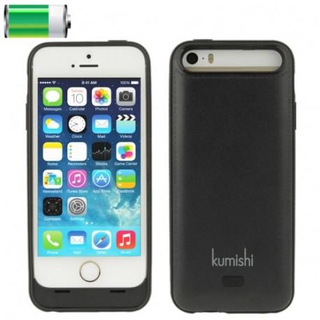 Image of   2200mAh genopladeligt ekstern batteri / strømforsyning bank tilfældet for iPhone 5 & 5S, KB 2200-I5S (sort)