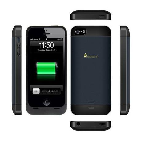 Image of   2000mAh Kiwi fugl bærbart, aftageligt, strøm ekstern batteri til iPhone 5, KB 2000 i5 (sort)