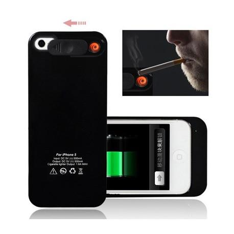 Image of   2 i 1 1800mAh nødsituation batteriet pakke / eksternt batteri med cigarettænder for iPhone 5 (sort)