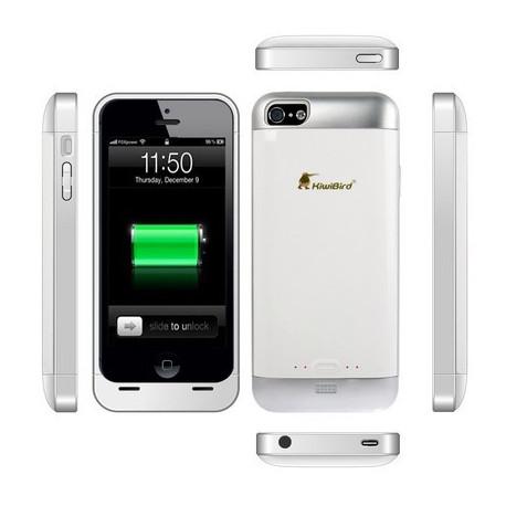 Image of   2000mAh Kiwi fugl, bærbart flytbar sikkerheds ekstern batteri, taske til iPhone 5, KB 2000 i5 (hvid)