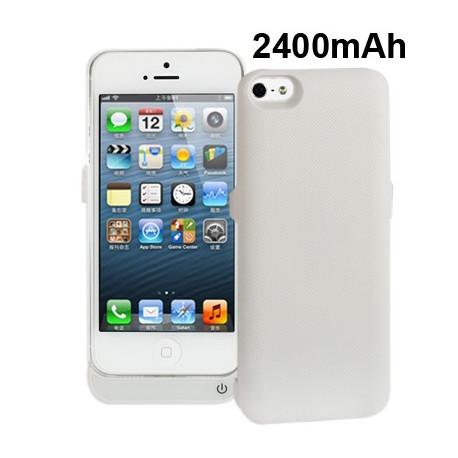 Image of   2400mAh Ekstern Batteri / strøm bank for iPhone 5 (hvid)