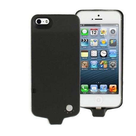 Image of   2800mAh Litchi tekstur strøm bank / eksternt batteri med skjult holder til iPhone 5 (sort)