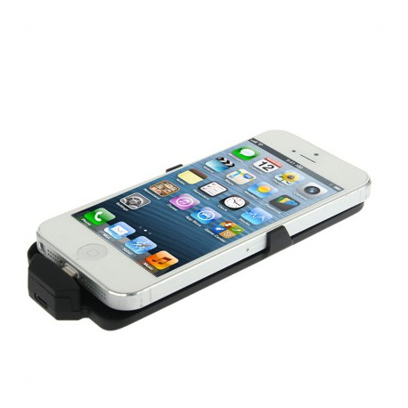 Image of   2500mAh litchi tekstur, ekstern batteri, strøm pakke til iPhone 5 / 5C / 5S (sort)