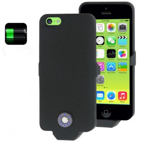 Image of   2500mAh småsten tekstur, overflade ekstern batteri / strøm bank med batteriindikator til iPhone 5C (sort)