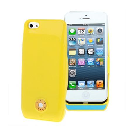 Image of   2800mAh Ekstern Batteri Strøm pakke til iPhone 5 (gul)