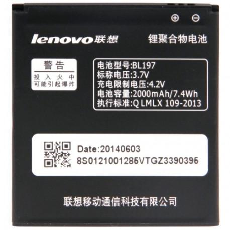 Image of   BL197 genopladeligt Li- Polymer batteri til Lenovo A798t/A800/S720