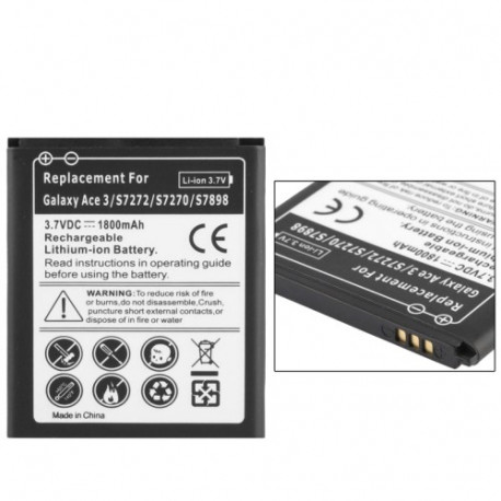 Image of   1800mAh Forretnings Batteri til Samsung Galaxy Ace 3 / S7272 / S7270 / S7898