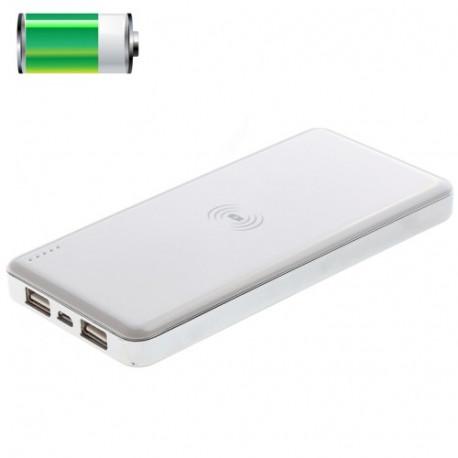 Image of   10000mAh QI serien standard trådløse opladeren, dual USB strøm bank for iPhone 5 & 5S
