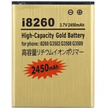 Image of   2450mAh Høj Kapacitets Guld Batteri til Samsung Galaxy Core i8260