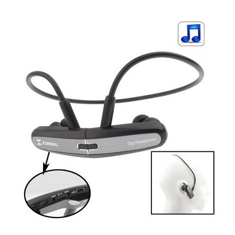 Fri stil bevægelse mp3 hovedtelefoner, med magnet, indbygget 4gb hukommelse (grå) fra N/A fra olsens it aps