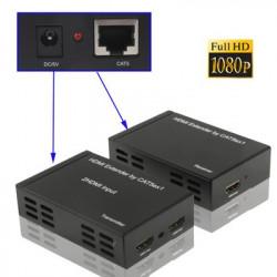 HDMI Forlænger/extender Cat5e/Cat6 - forlæng HDMI med netværkskabel