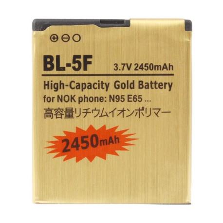 Image of   2450mAh BL- 5F Høj Capacity Guld Forretning Batteri til Nokia N95 / N96 / E65