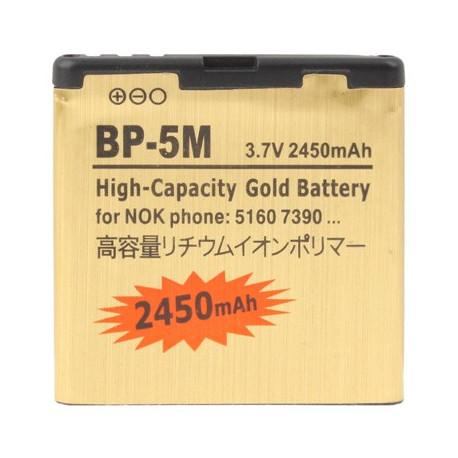 Image of   2450mAhBP-5M Høj Capacity Guld Forretning Batteri til Nokia 5700XM/5610/5610XM/5700/7390/6220c