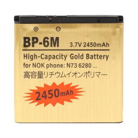 Image of   2450mAh BP - 6M Høj Capacity Guld Forretning Batteri til Nokia N73 / N93
