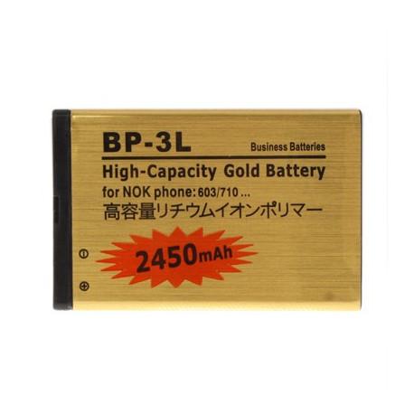 Image of   2450mAh BP - 3L Høj Capacity Guld Forretning Batteri til Nokia 603/710