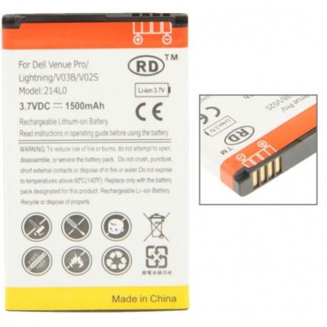 Image of   1500mAh Høj Capacity Batteri til Dell Venue Pro / V03B ( 214L0 )