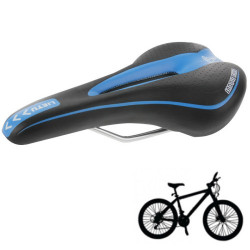 Ny cykel Race Saddle Cykel Saddle Seat MTB for Krop Komfortabel, 451A (slags + blå) (Sort)