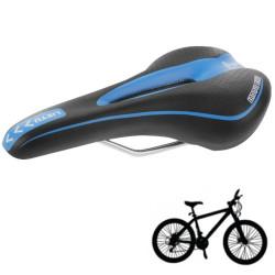 Ny cykel Race Saddle Cykel Saddle Seat MTB for Krop Komfortabel, 451A (slags + blå) (Sort)