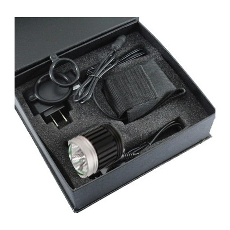 Image of   4 funktioners cykellygte med 3 x CREE XM-L T6 LED lys, Lysstrøm: 3800lm