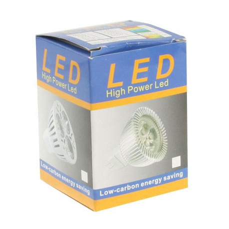 Image of   3W høj kvalitet LED Energy Saving Spotlight Bulb, Base type: GU10