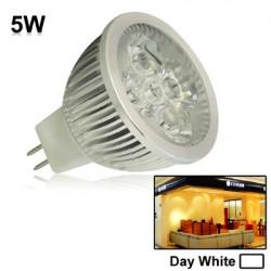 5W / 400LM High Quality trækstyrke aluminium Materiale Day White Light LED sparepærer and Base Type: MR16