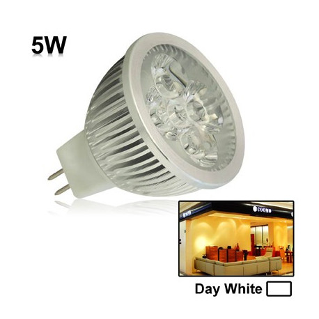 Image of   5W / 400LM High Quality trækstyrke aluminium materiale Day White Light LED sparepærer og Base Type: MR16