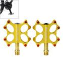 Kactus Bike MTB / BMX guld belagt pedal i rustfrit stål (Guld)