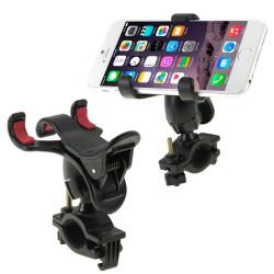 360 graders universal mobiltelefon-holder til cykelstyret (Sort)
