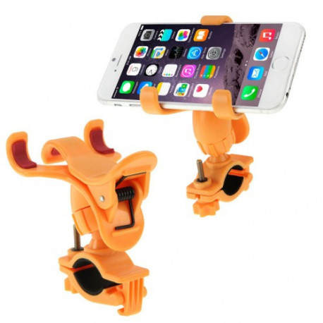 360 graders universal mobiltelefon-holder til cykelstyret (orange) fra N/A på olsens it aps