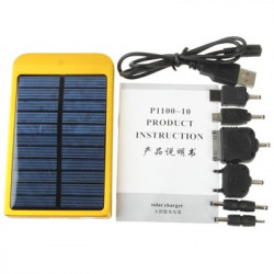 Solenergi Oplader to the iPhone / Mobil Phone/MP3/MP4/Digital kamera, Solar Panel: 0,7 W (Indbygget lithium batteri: 2600mAh)