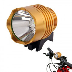 CREE XM-L T6 3-Mode 1200LM cykellygte og forlygte (Guld)