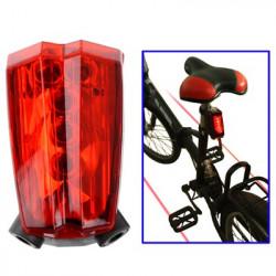 Baglygte med 5 LED Laser lys, Indbygget genopladeligt batteri, Bølgelængde: 300-1100nm