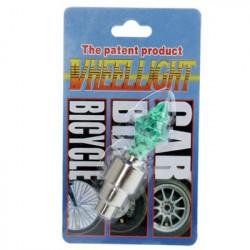 Motion Aktiveret LED Tire Farverige Lights for cykler og biler Valve Cap (grøn)