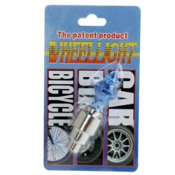 Motion Aktiveret LED Tire Farverige Lights for cykler og biler Valve Cap (blå)