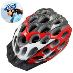 MTB / Greenroad Outdoor Bike Cykel Cycling Helmet + Visor, LW-822 (rød)