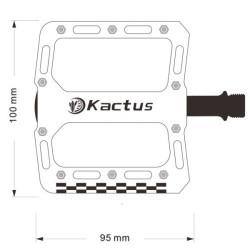 Kactus Bike MTB BMX Platform Flat Pedaler CNC Guldplettering Rustfrit Stål Aksel (slags)