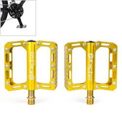 Kactus Bike MTB BMX Platform Flat Pedaler CNC Guldplettering Rustfrit Stål Aksel (guld)